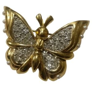 🇨🇦 D'ORLAN 22k gold plated butterfly brooch